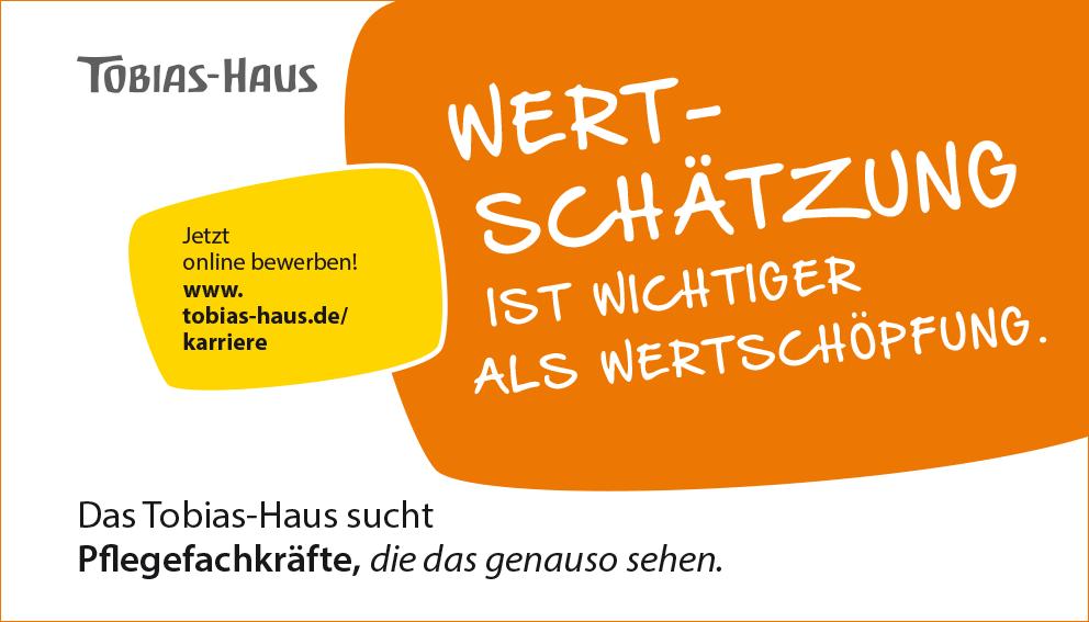 Stellenanzeige Tobias-Haus für Haustechniker: Wertschätzung ist wichtiger als Wertschöpfung.