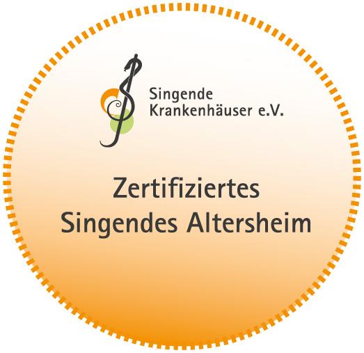 Singendes Altenheim Zertifikat Logo Tobias-Haus
